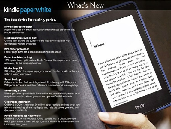 Kindle Paperwhite con integración Goodreads
