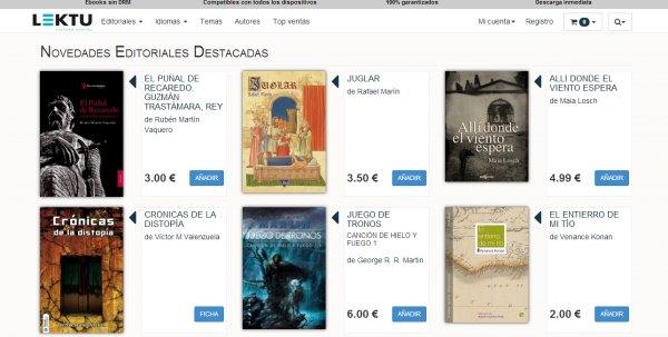 Lektu plataforma de ebooks sin DRM. Análisis y novedades de la presentación