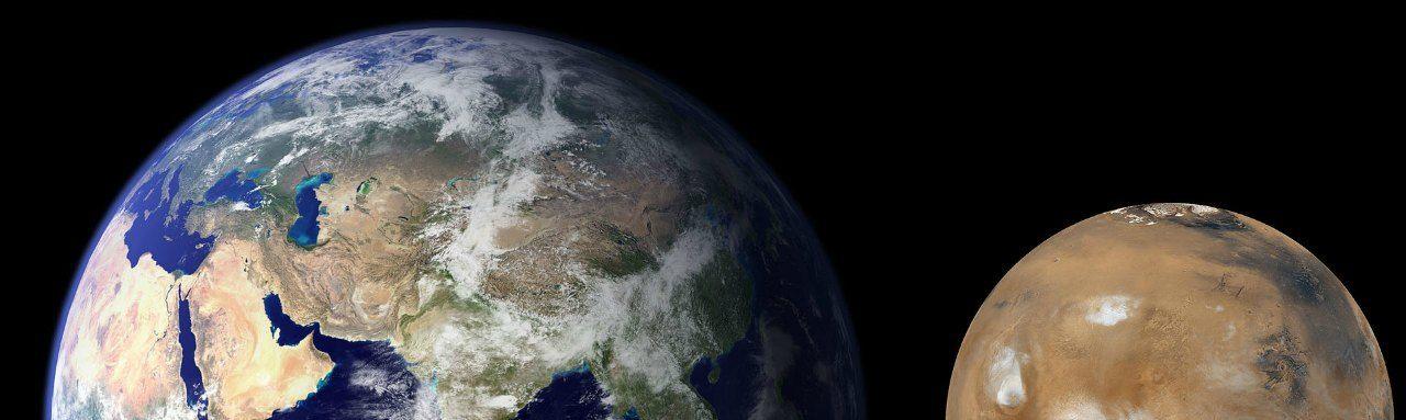 Comparación de los 2 planetas Tierra vs Marte