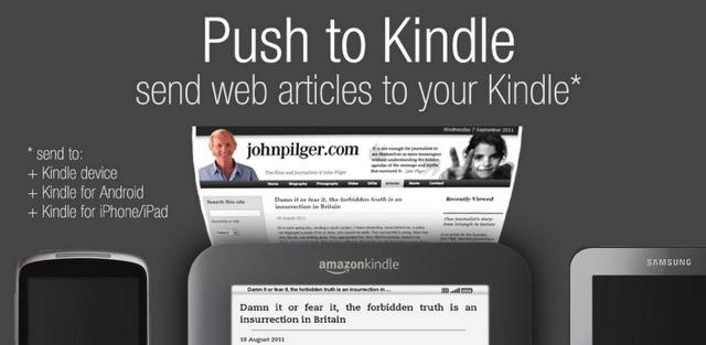 Push to Kindle de Fivefilters o como enviar artículos desde la web a tu ereader